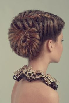 Unusual braided updo #hairstyles #hairstyle #hair #long #short #medium #buns #bun #updo #braids #bang #greek #braided #blond #asian #wedding #style #modern #haircut #bridal #mullet #funky #curly #formal #sedu #bride #beach #celebrity  #simple #black #trend #bob