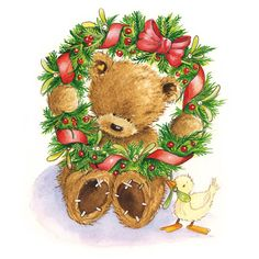 DoodleDoo Personalised Charity Cards for all occasions - NOT just Christmas. Also supporting talented artists. Christmas Teddy Bear, Christmas Animals, Christmas Pictures, Christmas Art, Teddy Bear Cartoon, Cute Teddy Bears, Christmas Clipart, Christmas Printables, Urso Bear
