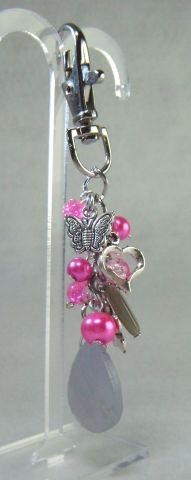 Beaded and Silver Plated Butterfly Bag Charm - £4.50 at http://jewellerybyrebecca.co.uk/bag011