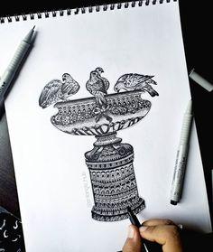 Flower Art Drawing, Design Art Drawing, Doodle Art Drawing, Mandala Drawing, Pencil Drawing Images, Pencil Drawings Of Girls, Disney Drawings Sketches, Kawaii Drawings, Mandala Art Therapy