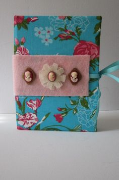 Teal and Pink Floral Pattern Earring by TheElegantLady on Etsy, $15.00