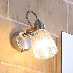 Jolie applique de salle de bain Kara à LED, IP44, référence 9620681 - Luminaires pour éclairer la salle de bain chez Luminaire.fr !