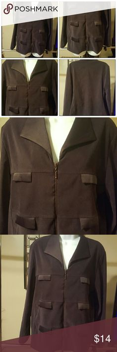 Cattrell Jacket This is a Super Cute Jacket by Cattrell 97% polyester 3% spandex. This is a must have for any wardrobe accessory. The color is gorgeous I would say its between a chocolate brown and black. cattrell Jackets & Coats Blazers