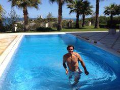 Rafael Nadal in swimming pool