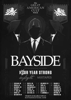 NEWS: The punk band, Bayside, have added more dates to their spring U.S. tour with Four Year Strong, Daylight and Mixtapes. You can check out the updated list of tour dates and details at http://digtb.us/greatamericanculttour