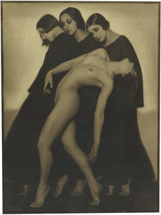 Rudolf Koppitz 1884-1936 BEWEGUNGSSTUDIE (MOVEMENT STUDY) toned, the photographer's blindstamp on the image, mounted, 1925 15 by 11 in.