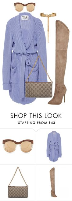 """Untitled #6205"" by stylistbyair ❤ liked on Polyvore featuring Linda Farrow, Band of Outsiders, Gucci and Eddie Borgo"