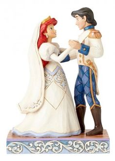 PRE-ORDER: 'Wedded Bliss - Ariel and Eric wedding figurine (Jim Shore Disney Traditions)