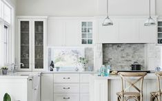 From Renovation to Relaxation: Creating a Special Family Forever Home Hamptons House, The Hamptons, Old Bricks, Wall Cladding, Home Kitchens, Relax, Island, Contemporary, Ideas