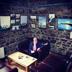 """Orlaith Hamersley's """"Windswept"""" art collection is back home on the Copper Coast this April. The exhibition of acrylic paintings by Orlaith Hamersley is on display at the Copper Coast Geopark, Bunmahon, Co. Waterford April 15th, 16th, 17th, 22nd, 23rd, and 24th 2016. The collection is inspired by the artist's interaction with the rugged landscape of her home by the sea on the south coast of Waterford. www.hamersleyart.com Acrylic Paintings, Coast, Copper, Display, Sea, Landscape, Inspired, Artist, Inspiration"""