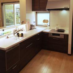 Sayuri.a0904さんの、ナチュラル,L型 キッチン,ブリアール,一条工務店,カフェ風,キッズカウンター,キッチン,のお部屋写真