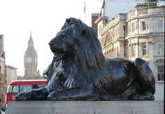 Trafalgar Square Lions (Landseer's Lions) - Bob Speel's Website - London, UK