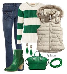 """Going Green"" by lindakol ❤ liked on Polyvore featuring Givenchy, Sally&Circle, H&M, Maripé, Stella & Dot, women's clothing, women's fashion, women, female and woman"