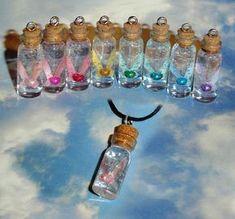 Legend of Zelda Fairy in a Bottle Charm Necklace by YellerCrakka, $16.00