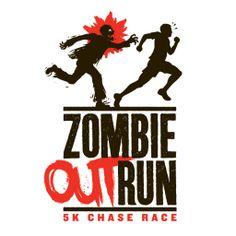 Zombie Outrun: 5K Chase Race Logo - Zombie 5K - By Justin Gammon