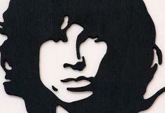 Quadro di Jim Morrison lavorato al traforo Jim Morrison, Cookie Cutters, Stencil, Etsy, Vintage, Fantasy, Stenciled Table, Vintage Comics, Stenciling
