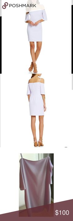 NWT Gianni Bini Lavender short sleeve dress party Gorgeous never been worn dress with tags! Gianni Bini lilac cold shoulder with zip back. Beautiful color and design. Perfect for parties or just being fabulous any day of the week. Gianni Bini Dresses