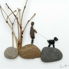 Stone Crafts, Rock Crafts, Arts And Crafts, Stone Pictures Pebble Art, Stone Art, Sea Glass Crafts, Sea Glass Art, Pebble Art Family, Rock Painting Designs
