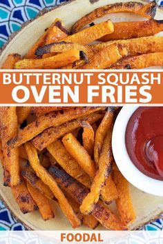Satisfy your junk food craving with a healthier option: baked butternut squash fries, paired with your favorite dipping sauce. Get the recipe now on Foodal. Weight Loss Meals, Vegetable Sticks, Vegetable Dishes, Vegetable Recipes, Vegetarian Recipes, Cooking Recipes, Healthy Recipes, Oven Recipes, Easy Recipes