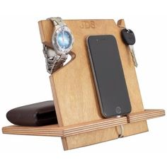 Palmetto Wood Shop offers wooden docking stations for sale online, compatible with all cell phones. They also hold your phone, wallet, watch and keys.