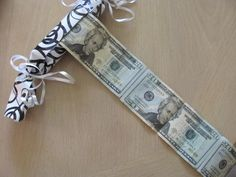 How to make a money roll for a gift!  Great idea and cute!