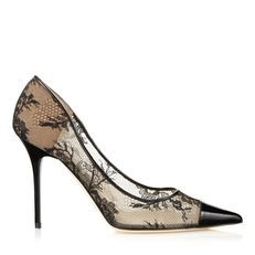 Black lace and patent pointy toe pumps from Jimmy Choo. Discover our  pointed toe shoes collection and shop for the latest trends today. 46bac7975bb