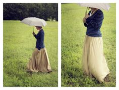 Pinner says: Simple Knit Maxi Tutorial | Alida Makes. PS I LOVE IT! SO VINTAGE!