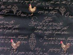 Itd Rooster Black Fabrics
