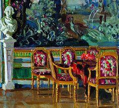 Stanislav Yulianovich Zhukovsky.  An Interior of Koskovo Palace, 1917.