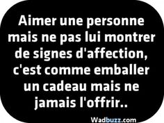 Love a person but not show him any signs of affection, - Mary Martinez French Words, French Quotes, Best Quotes, Love Quotes, Lesbian Quotes, Anti Stress, Signs, Positive Affirmations, Proverbs