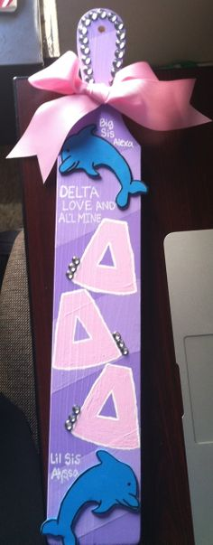 Tri delta Big & Little paddle