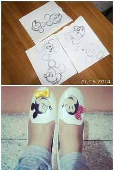Zapatos pintados.