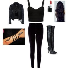 Classic Isabelle Lightwood outfit from polyore