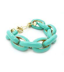 Little Links Green - Simple link bracelet in pastel green