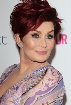 Red short hairstyles for women over 50 with thick hair