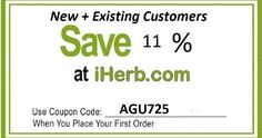 Hurry! @iherb is offering 11% off your entire order with code AGU725 Check this page for details or just use code AGU725 during checkout! #iherb #iherbcode #iherbdiscount #iherbcoupon #iherbcouponcode #fitfam #protein #proteinpowder #beauty #crueltyfree #makeup #iherbsale #iherbpromo #iherbpromocode