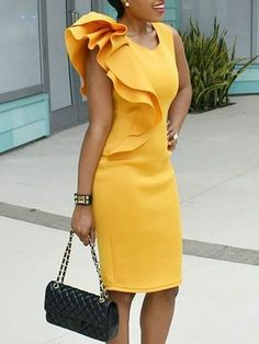 VERYVOGA Solid Sleeveless Bodycon Knee Length Casual/Elegant Dresses - Casual Dresses - Ideas of Casual Dresses Stylish Dresses, Elegant Dresses, Beautiful Dresses, Casual Dresses, Short Dresses, Dresses For Work, Sexy Dresses, Summer Dresses, Formal Dresses