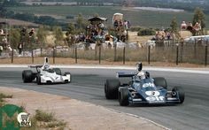 Jody Scheckter holds off Carlos Reutemann to win his home Grand Prix. Scalextric Cars, Motorsport Magazine, Jody Scheckter, F1 Drivers, Indy Cars, Formula One, Fun To Be One, Golden Age, Grand Prix