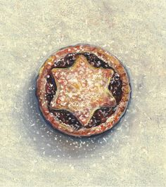 Mince pie by Joel Penkman Cake Illustration, Food Illustrations, Joel Penkman, Doughnut Cake, Still Life Drawing, Pastry Art, Mince Pies, First Art, Confectionery