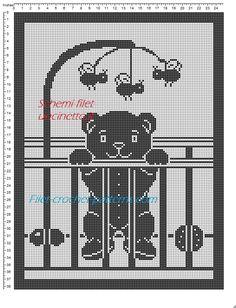 copertina filet orsetto con apine schema