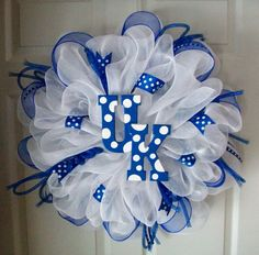 GORGEOUS+UK+Deco+mesh+Wreath+by+ADoorableCreations05+on+Etsy,+$75.00