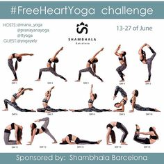 Tomorrow! We start the first day of our #freeheartyoga challenge!! Don't forget to play ☺️2 weeks of heart opening postures and the chance to win a 50€ gift card from @shambhalabarcelona!  To participate:  1- FOLLOW @shambhalabarcelona and your hosts @mana_yoga, @pranayanayoga, @ttyoga and guest host @yogayely  2- REPOST this calendar to your feed  3- INVITE 3 friends to join the challenge in the comments below  4- TAG your hosts, @shambhalabarcelona and #freeheartyoga in your daily posts…