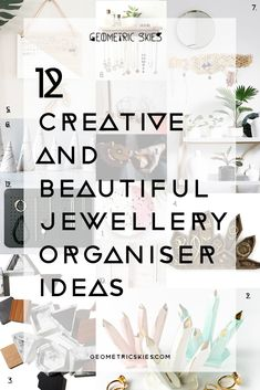 Indulge yourself and find some new creative and beautiful jewellery storage solutions to house the jewellery items you truly love! Here's a roundup of our 12 favourite, creative and beautiful jewellery organiser ideas for your home! Jewelry Drawer, Jewelry Wall, Jewellery Storage, Wooden Jewelry, Glass Jewelry, Handmade Jewelry, Coral Jewelry, Jewelry Clasps, Jewelry Armoire