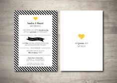 "Einladung ""Black Stripes No1"" Vintage zur Hochzeit - Invitation Text, Invitations, Change Request, Print Release, Fine Paper, Custom Buttons, Black Stripes, Texts, How To Apply"