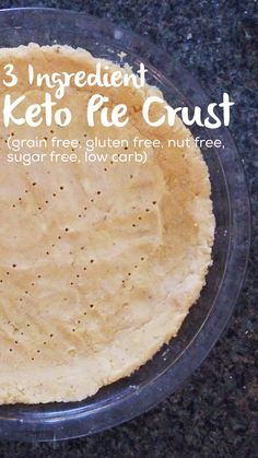 Keto Pie Crust | low carb, grain free, gluten free, sugar free, nut free