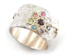 Real jewelry for real people: handmade & by IlanAmirJewelry Flower Designs, Ring Designs, Peridot, Amethyst, Valentine's Day Rings, Gold Flowers, Red Garnet, Blue Topaz, Gemstones