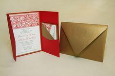 Jasmine, exotic wedding invitations