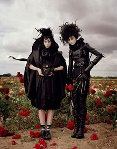 Tim Burton shoot for Harper's Bazaar.
