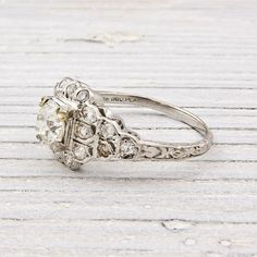 Antique 70 Carat Diamond Engagement Ring by ErstwhileJewelry, $4300.00