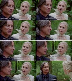 """Rumple and Snow Queen - 4 * 6 """"Family Business. Snow Queen 4, Elizabeth Mitchell, I Cant Help It, Robert Carlyle, Outlaw Queen, Captain Swan, Series Movies, Family Business, Ouat"""